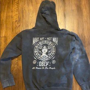 Obey Tops - Obey hooded sweatshirt
